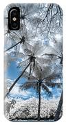 Infrared Palm Trees On The Coast IPhone Case