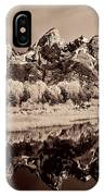 Infrared Sepia Grand Teton National Park IPhone Case