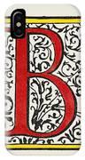 Initial 'b', C1600 IPhone Case