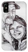 Ink Portrait Of My Father And I IPhone Case