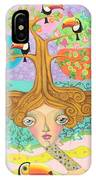 Inner Thoughts And Tucan IPhone Case
