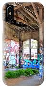 Inside The Old Train Roundhouse At Bayshore Near San Francisco And The Cow Palace II IPhone Case