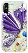 Inspirational Butterfly Flower Art Inspiring Quote Design By Megan Duncanson IPhone Case