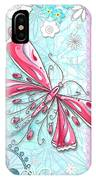 Inspirational Dragonfly Floral Fleur De Lis Art Sweet Charity By Megan Duncanson IPhone Case