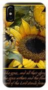 Inspirational Sunflowers IPhone Case