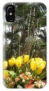Interior Decorations Butterfly Gardens Vegas Golden Yellow Tulip Flowers IPhone Case