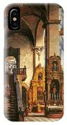 Interior Of The Dominican Church In Krakow IPhone Case