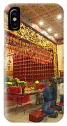 Interior Of Thien Hau Temple A Taoist Temple In Chinatown Of Los Angeles IPhone Case