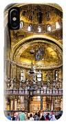 Interior St Marks Basilica Venice IPhone Case