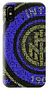 Internazionale Typography Poster IPhone Case