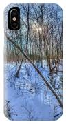 Intersecting Snow Streams IPhone Case