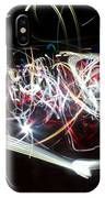 Into Chaos One Last Time...light Painting IPhone Case