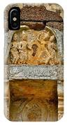 Intricate Carving At Wat Mahathat In 13th Century Sukhothai Hist IPhone Case