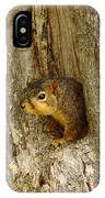 iPhone Squirrel In A Hole IPhone Case
