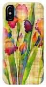 Iris Elegance On Yellow IPhone Case