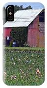 Iris Field And Barn IPhone Case