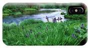 Iris Flowers By The Metolius River IPhone Case