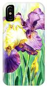 Iris Flowers Garden IPhone Case
