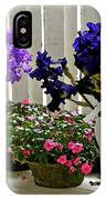 Irises And Impatiens IPhone Case
