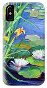 Irises And Lilies IPhone Case