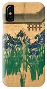 Irises At Yatsuhashi. Eight Bridges IPhone Case