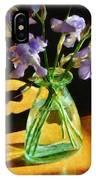 Irises In Morning Light IPhone Case