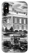 Iron County Courthouse IIi - Bw IPhone Case