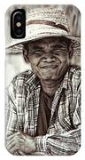 Isaan Rice Farmer IPhone Case