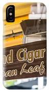 Island Cigar Factory Key West  IPhone Case