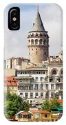 Istanbul Cityscape And Galata Tower IPhone Case