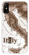 Italian Map IPhone Case
