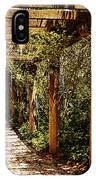 Italian Pergola Hallway IPhone Case