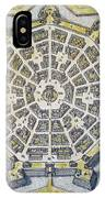 Italy: Palmanova Map, 1598 IPhone Case