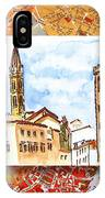 Italy Sketches Florence Towers IPhone Case