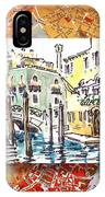 Italy Sketches Venice Canale IPhone Case