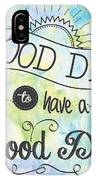 It's A Colorful Good Day By Jan Marvin IPhone Case