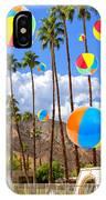 Its Raining Beach Balls Palm Springs IPhone Case