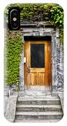 Ivy Covered Doorway - Trinity College Dublin Ireland IPhone Case