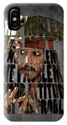 Jack Sparrow Quote Portrait Typography Artwork IPhone Case