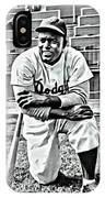 Jackie Robinson Painting IPhone Case