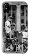 Jackson Square Reading 2 Bw IPhone Case