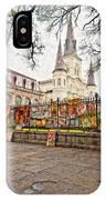 Jackson Square Winter Impasto IPhone Case