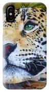 Jaguar Big Cat Original Oil Painting Hand Painted 8 X 10 By Pigatopia IPhone Case