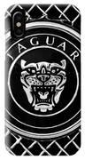 Jaguar Grille Emblem -0317bw IPhone Case