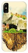 Jaipur City On Floating Land Vector IPhone Case