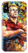 James Dean - Palette Knife Oil Painting On Canvas By Leonid Afremov IPhone Case