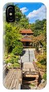 Japan In Pasadena - Beautiful View Of The Newly Renovated Japanese Garden In The Huntington Library. IPhone Case