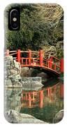 Japanese Bridge Over Water IPhone Case
