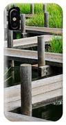 Japanese Garden Pier And Iris IPhone Case