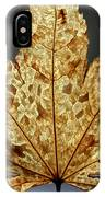 Japanese Maple Leaf Brown - 3 IPhone Case
